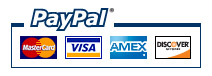 All major credit cards accepted through Paypal