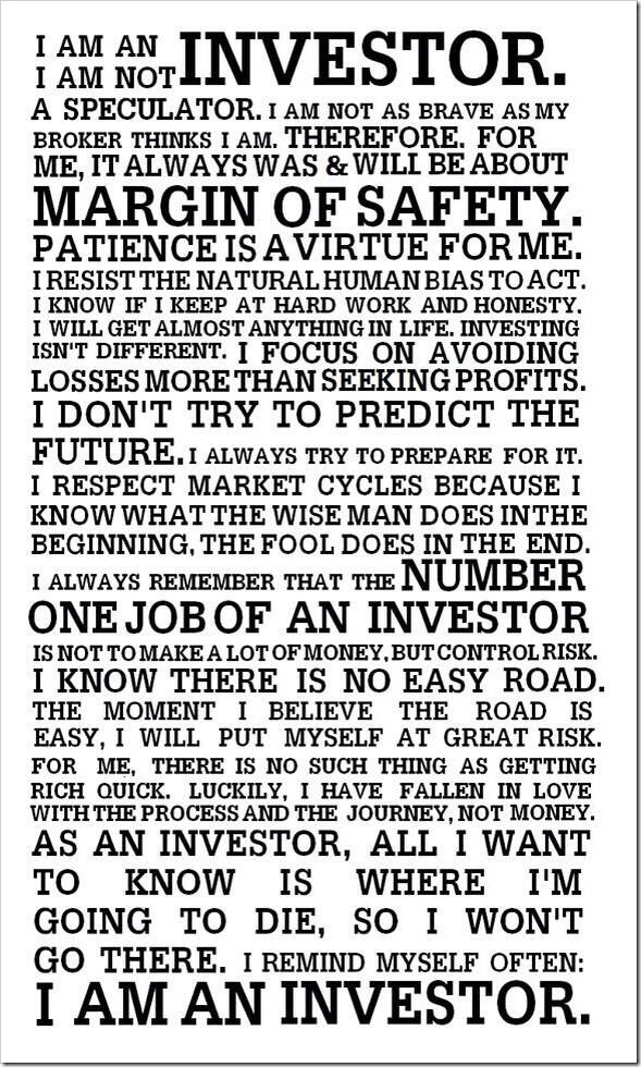 Investor's Creed